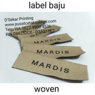 Cetak Sablon Label Baju