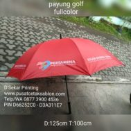 Cetak Sablon Payung Golf Fullcolor