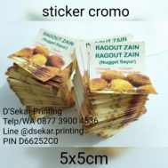 Cetak Sablon Sticker Cromo