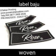 Cetak Label Baju Woven