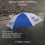 Cetak Sablon Payung Standar Kombinasi Fullcolour