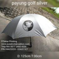 Cetak Sablon Payung Golf Silver