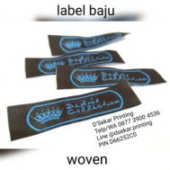 Label Baju Woven