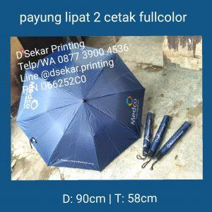 Payung Lipat 2 Cetak Fullcolour