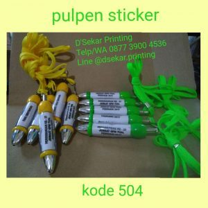 Pulpen Sticker