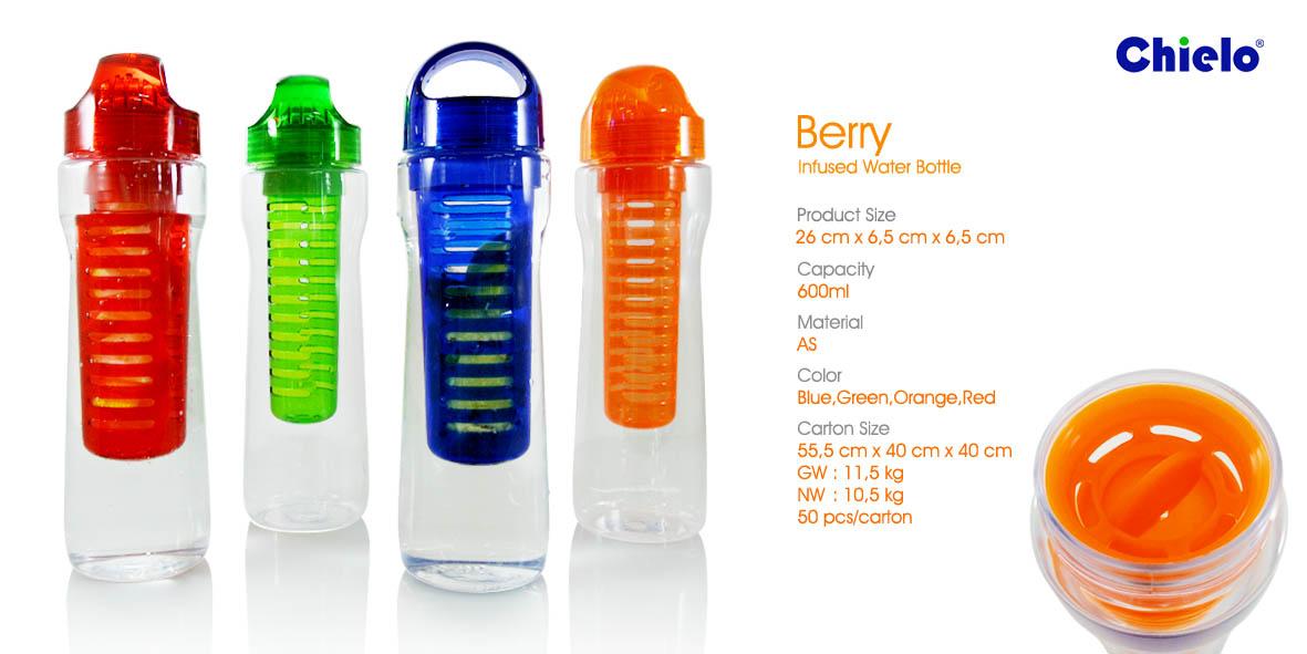 Botol Minum Tumbler Berry Infused Water