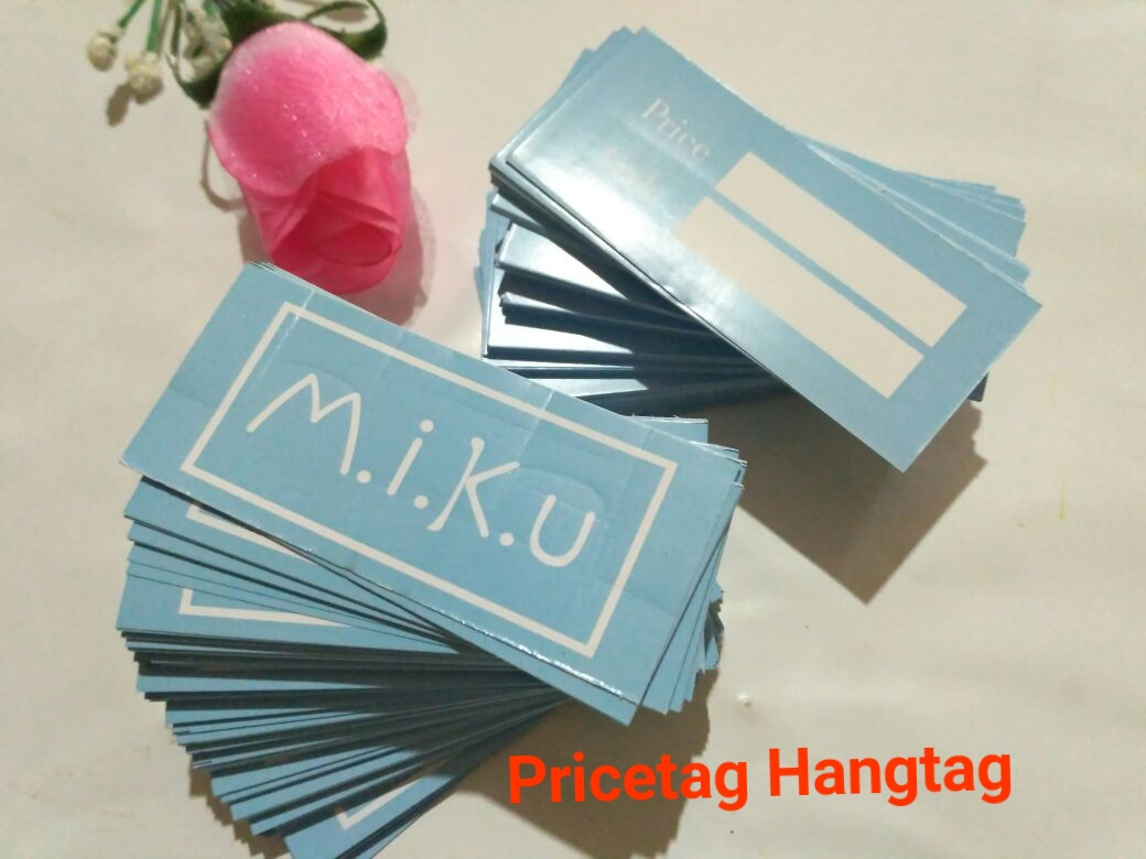 pricetag hangtag label harga