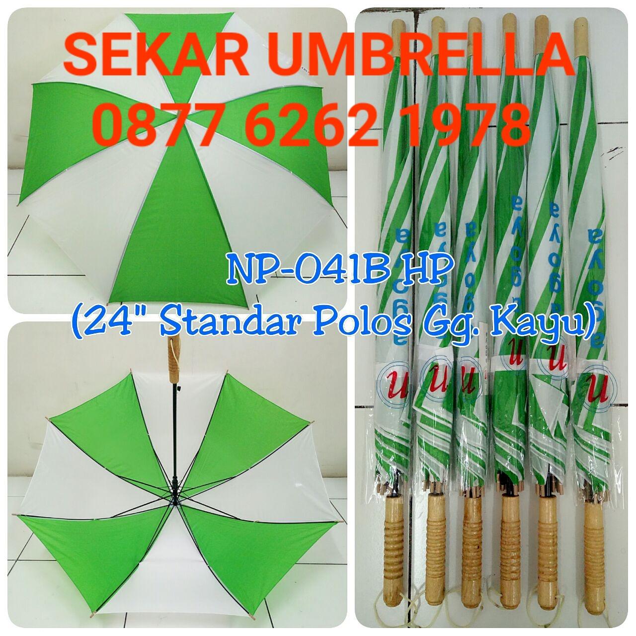Payung Standar Hijau Putih