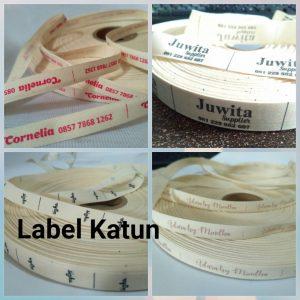 Label baju katun
