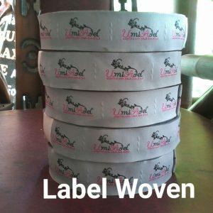 Label Baju Woven Damask
