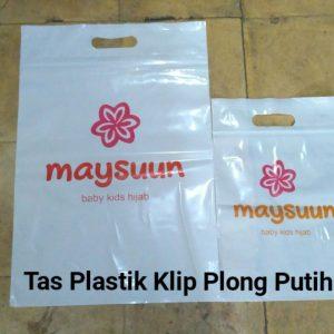 Tas Plastik Klip Plong Putih
