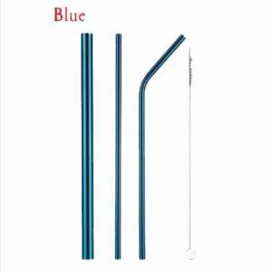Sedotan Stainless Blue